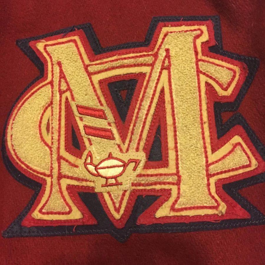 Academic Letter Bars on Mill Creek Letterman Jacket