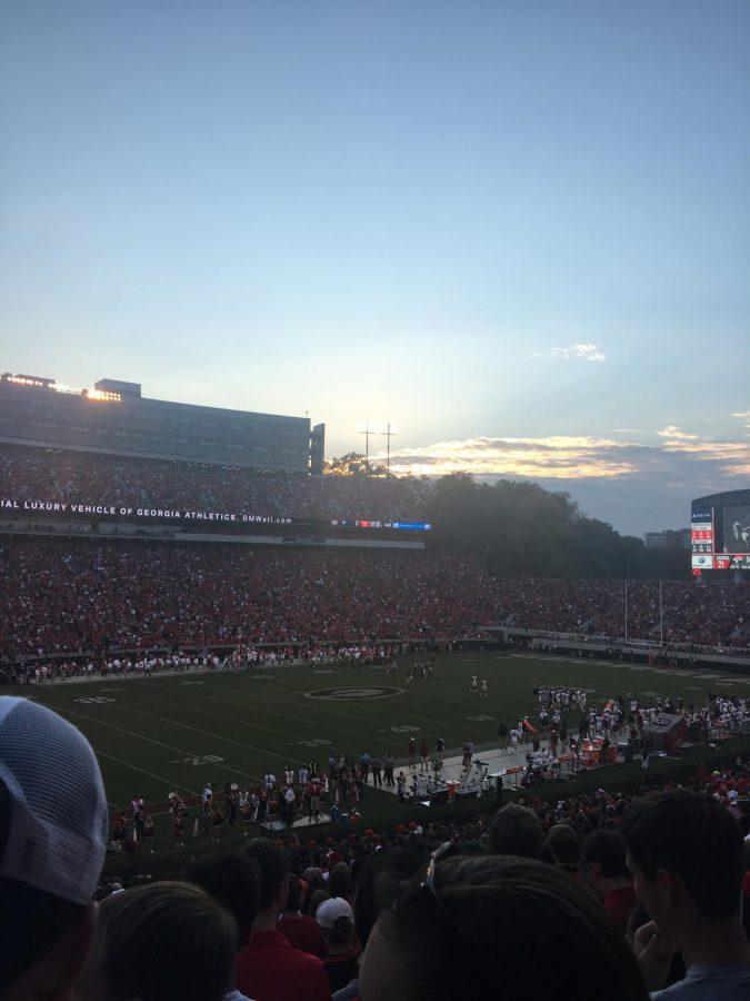 Sanford Stadium during Georgia Bulldog game