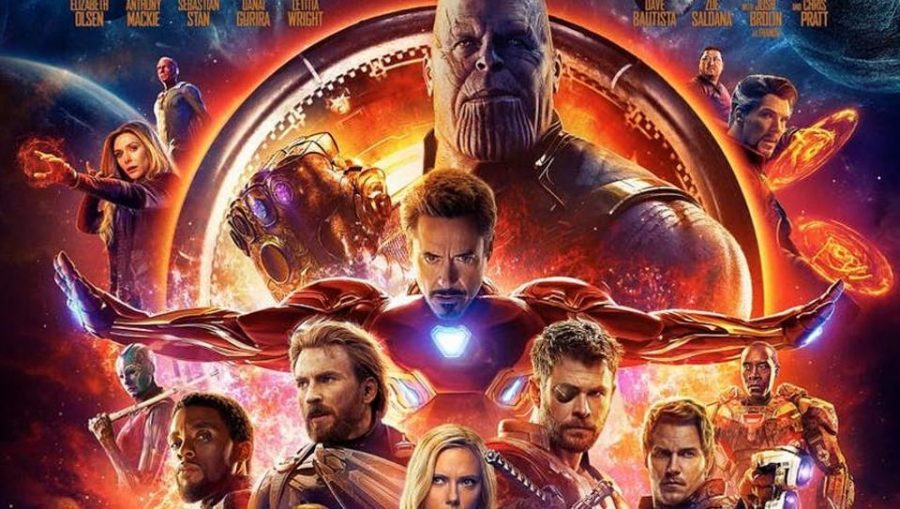 The official movie poster of Avengers: Infinity War