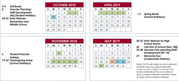 Gwinnett County Schools Calendar 2020 Gwinnett County Changes Calendar – The Mill Creek Chronicle