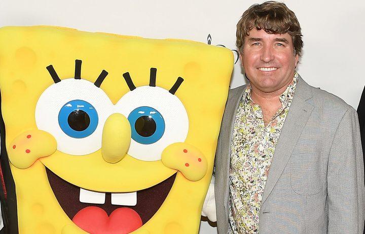 Stephen+Hillenburg+With+SpongeBob.
