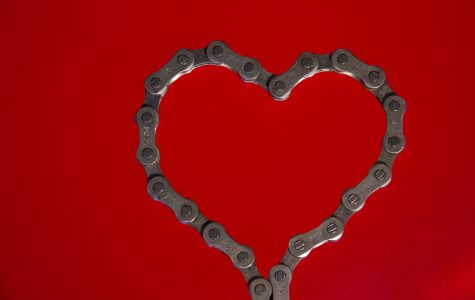 Chain Holiday Red Valentine's Day Bike Chain Heart