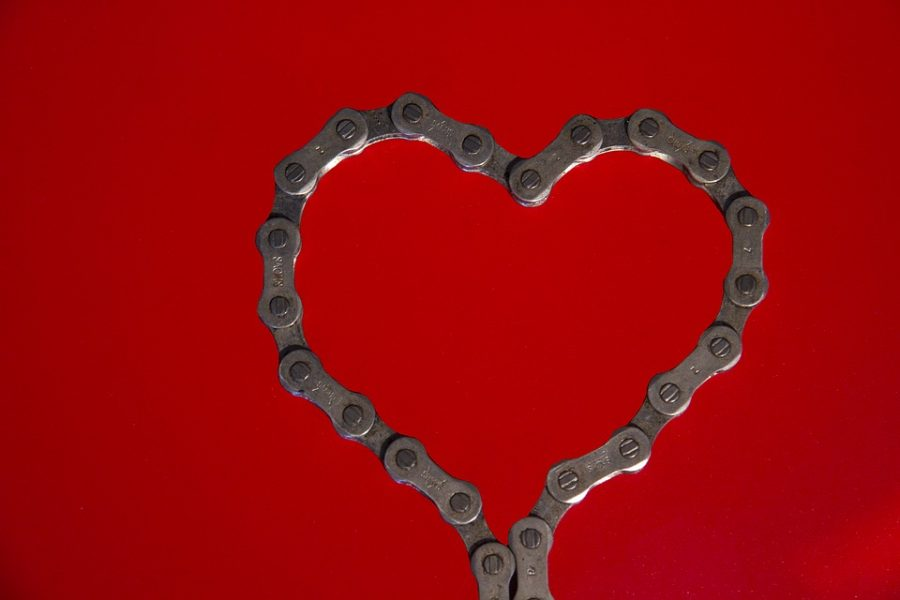 Chain+Holiday+Red+Valentine%27s+Day+Bike+Chain+Heart