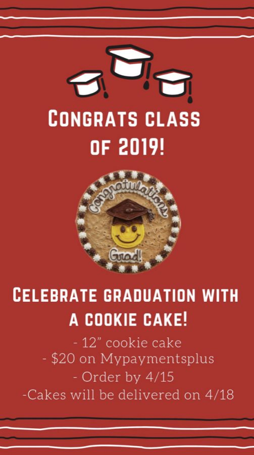 Graduation Cookie Cakes Available for Seniors