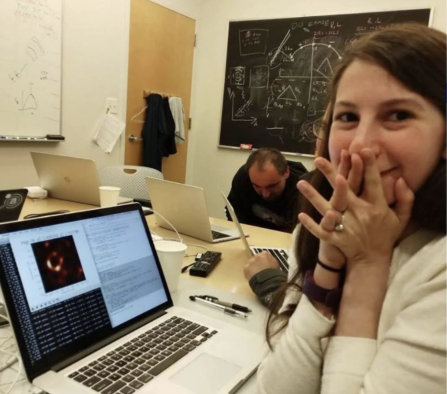 Katie Bouman excited about the new black hole picture.