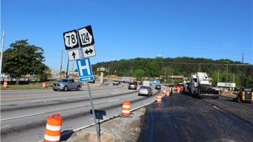 Scenic Highway/78 intersection will have construction hopefully until november