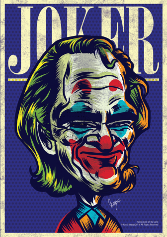 "A poster advertising the release of ""The Joker"""