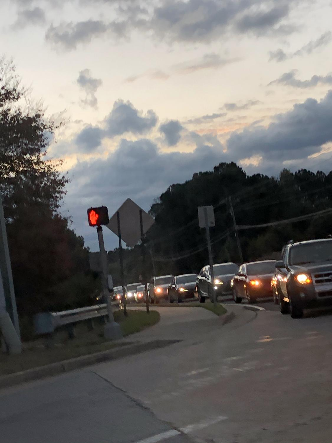 Student and parent drivers on the way to Mill Creek High School