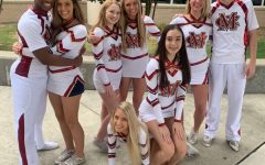 The Cheerhawks at team pictures