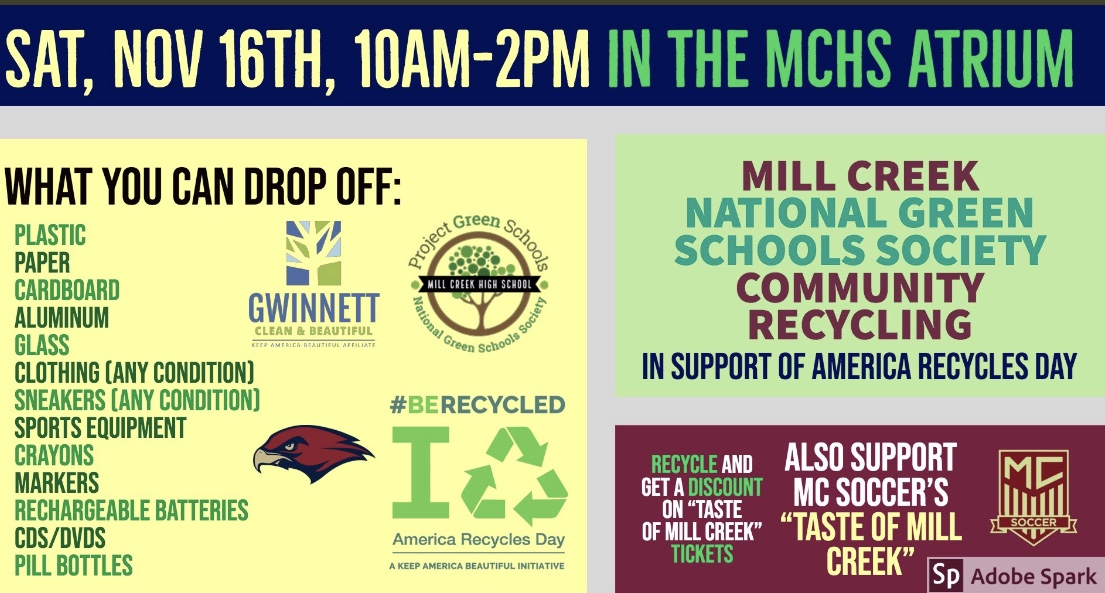 Those who bring some recyclable items will get a discount for the Taste of Mill Creek event.