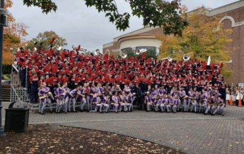 Mill Creek's Marching Band performs at band competition