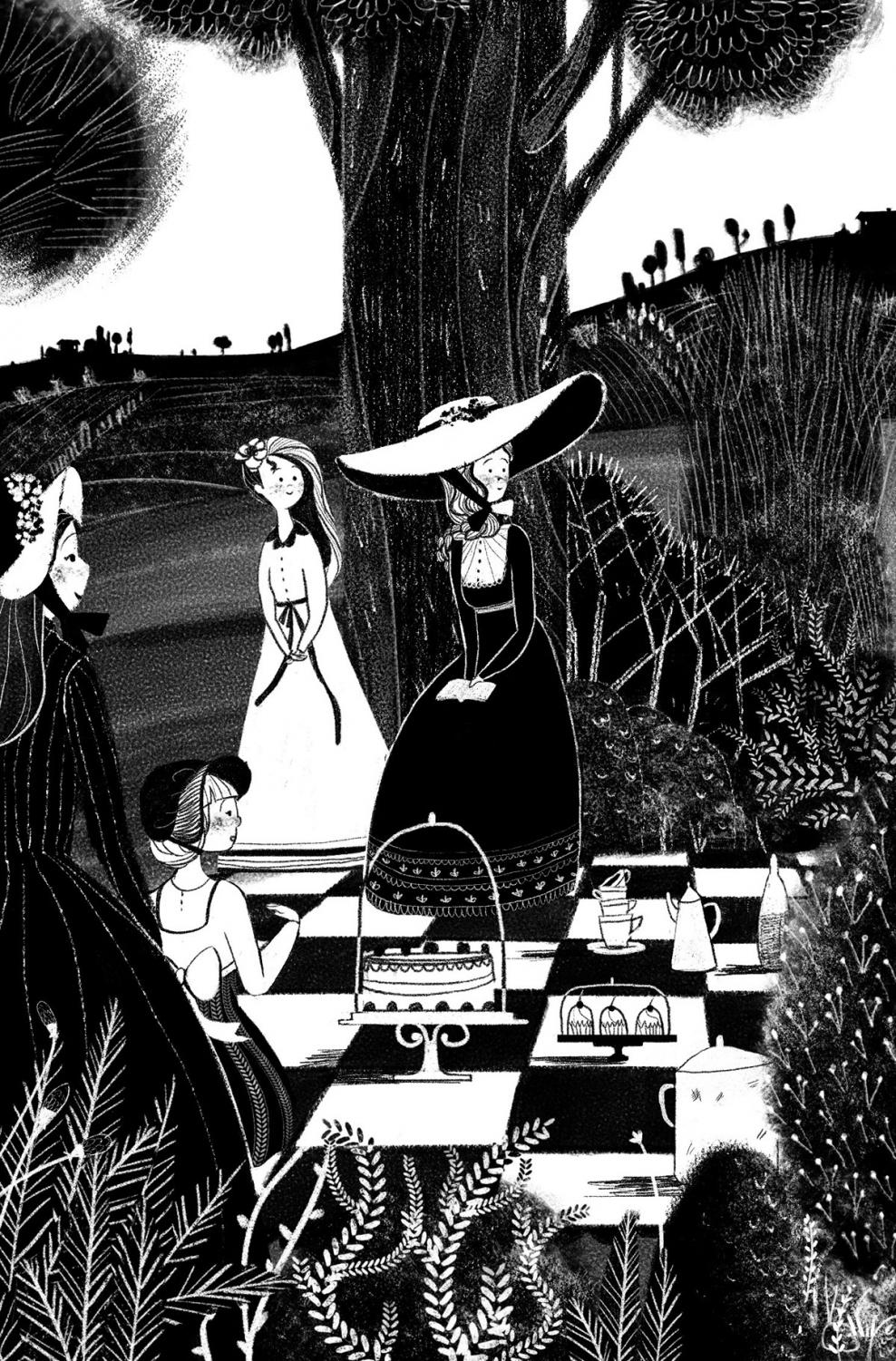 An illustration inspired by a scene in the novel
