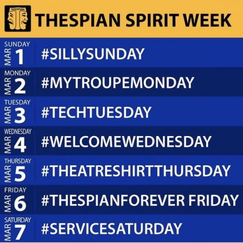 Thespian Spirit Week began on March 1.