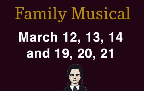 The Addams Family previous to the school closing planned dates.