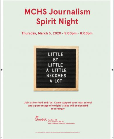 A flyer that Julianna Gracia made to help promote the spirit night