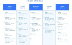 An example of a block schedule