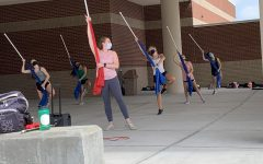 Colour Guard during a practice session after school on August 22.