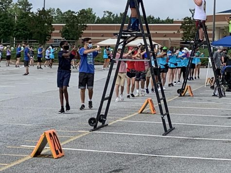 Marching Band during practice on August 22.
