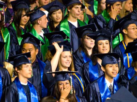 High School graduation ceremony