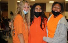 Freshman starting off color war with orange.