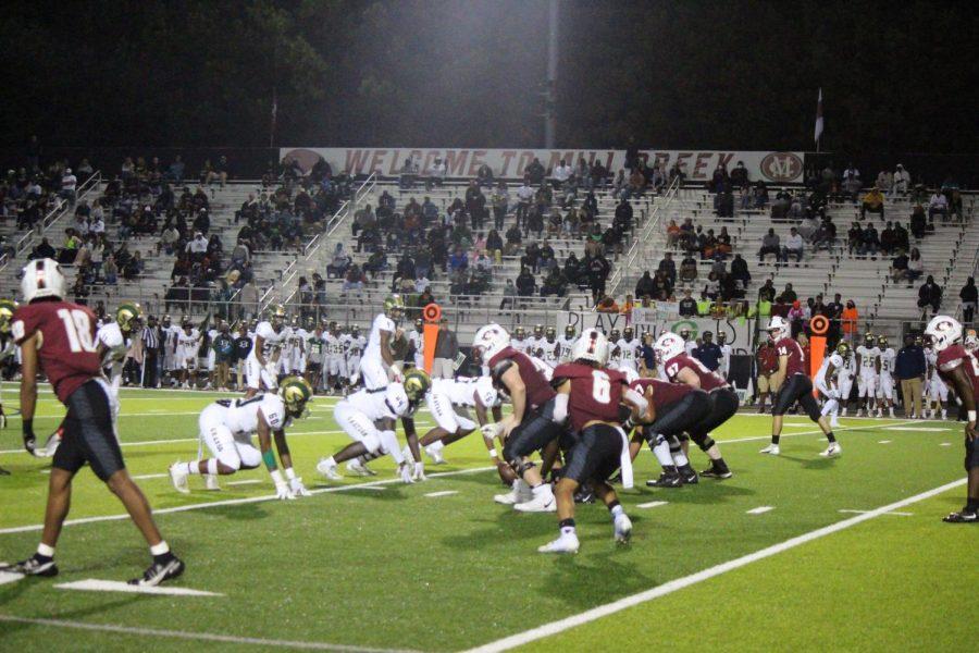 The varsity Hawks football team beat the Grayson Rams 28-14 last Friday night.